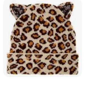 Leopard print toboggan
